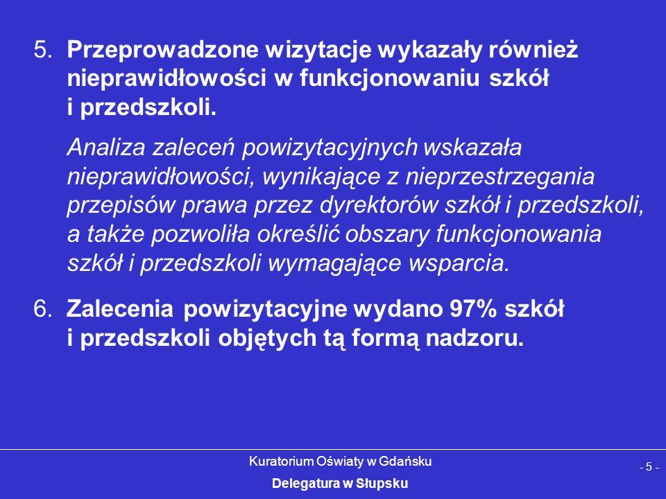 - 5 - Kuratorium Oświaty w Gdańsku Delegatura w Słupsku 5.