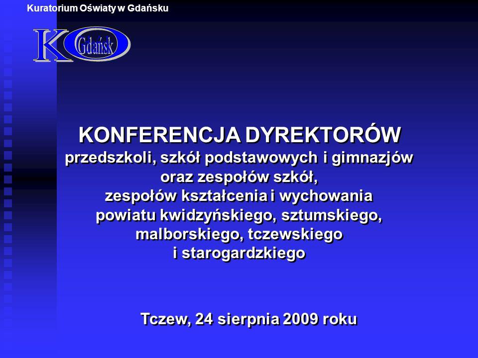 1.Otwarcie Konferencji i powitanie Gości Zdzisław Szudrowicz Pomorski Kurator Oświaty 2.