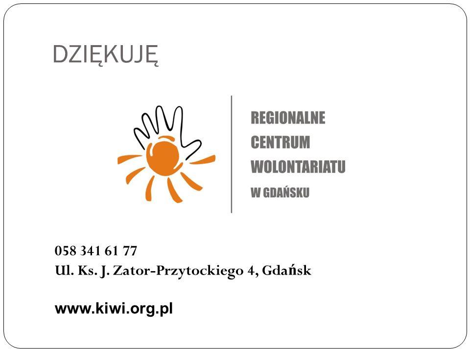 DZIĘKUJĘ 058 341 61 77 Ul. Ks. J. Zator-Przytockiego 4, Gda ń sk www.kiwi.org.pl