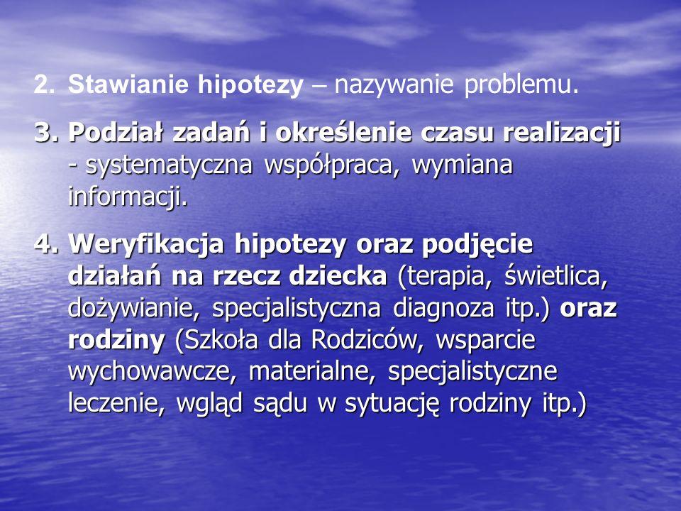 2.Stawianie hipotezy – nazywanie problemu.