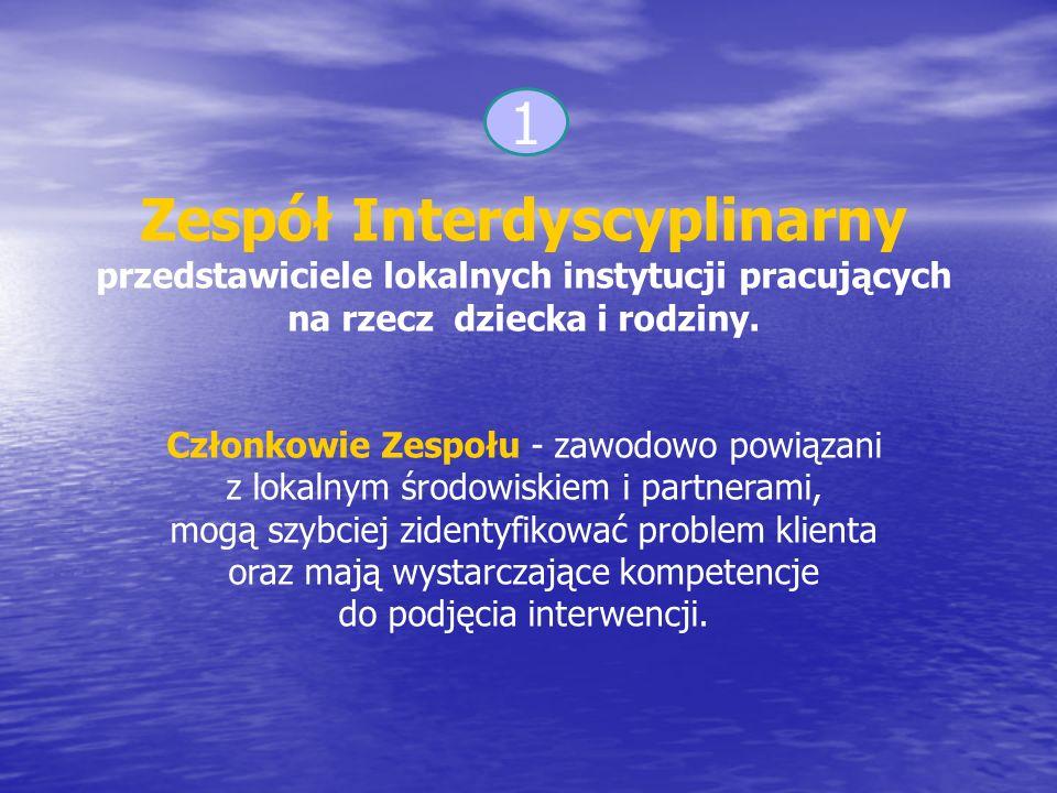 Zespół Interdyscyplinarny przedstawiciele lokalnych instytucji pracujących na rzecz dziecka i rodziny.