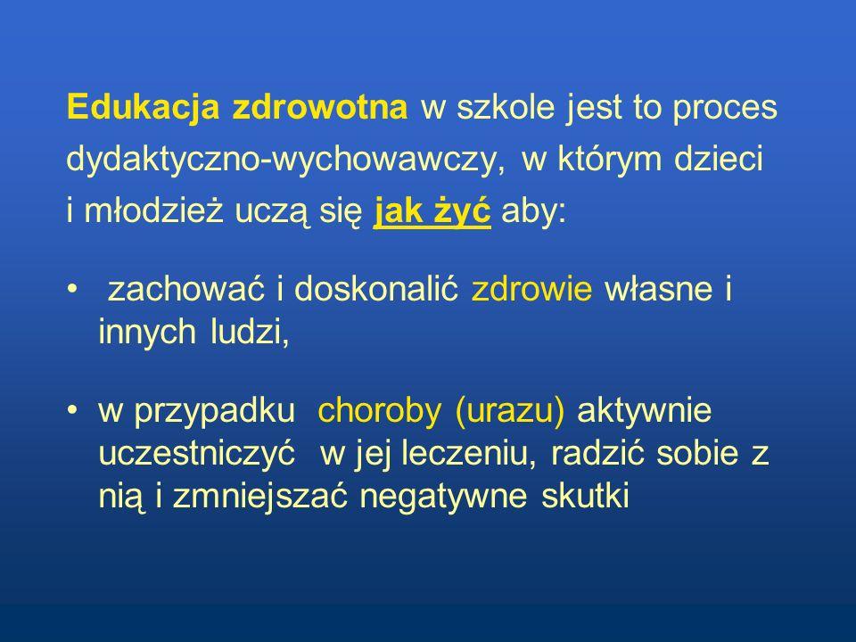 Blok tematyczny edukacja zdrowotna w gimnazjum i szkołach ponadgimnazjalnych - jeden semestr, ok.