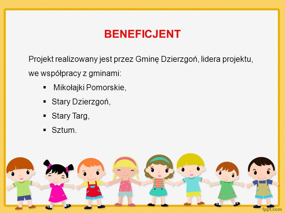 GRUPA DOCELOWA 225 dzieci w wieku 3-5 lat wyłącznie z obszarów wiejskich wszystkich 5 gmin powiatu sztumskiego wraz z rodzicami/ opiekunami.