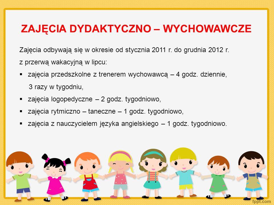 ZAJĘCIA DYDAKTYCZNO – WYCHOWAWCZE Dzieci, ich rodzice/ opiekunowie, a także nauczyciele objęci są wsparciem psychologicznym udzielanym przez psychologa, p.