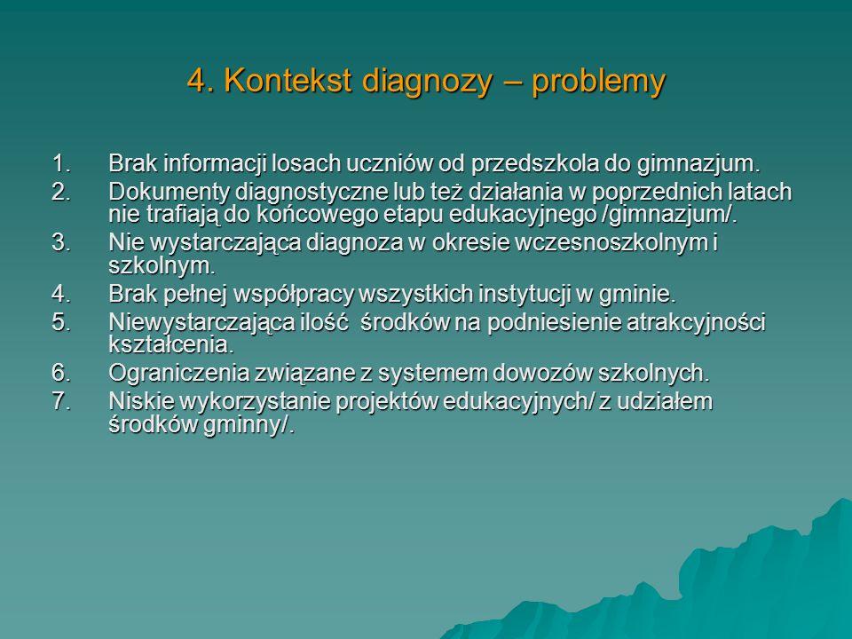 3.Diagnoza na wyjściu - wyniki z części matematyczno- przyrodniczej egzaminu gimnazjalnego w latach 2002-2008 3.Diagnoza na wyjściu - wyniki z części