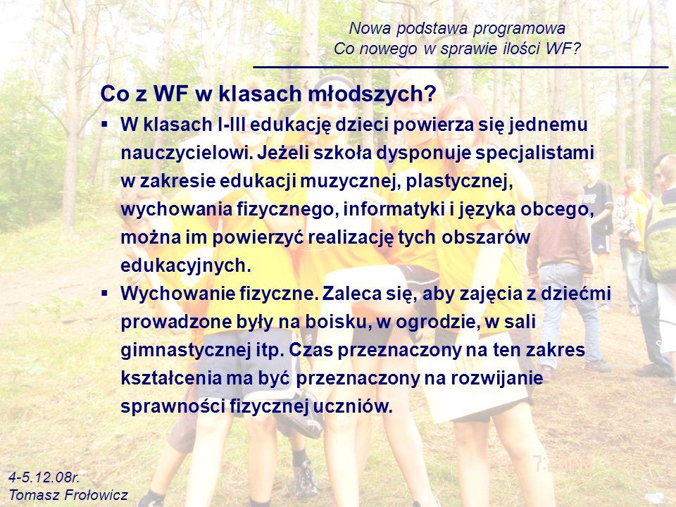 Nowa podstawa programowa Co nowego w sprawie ilości WF.