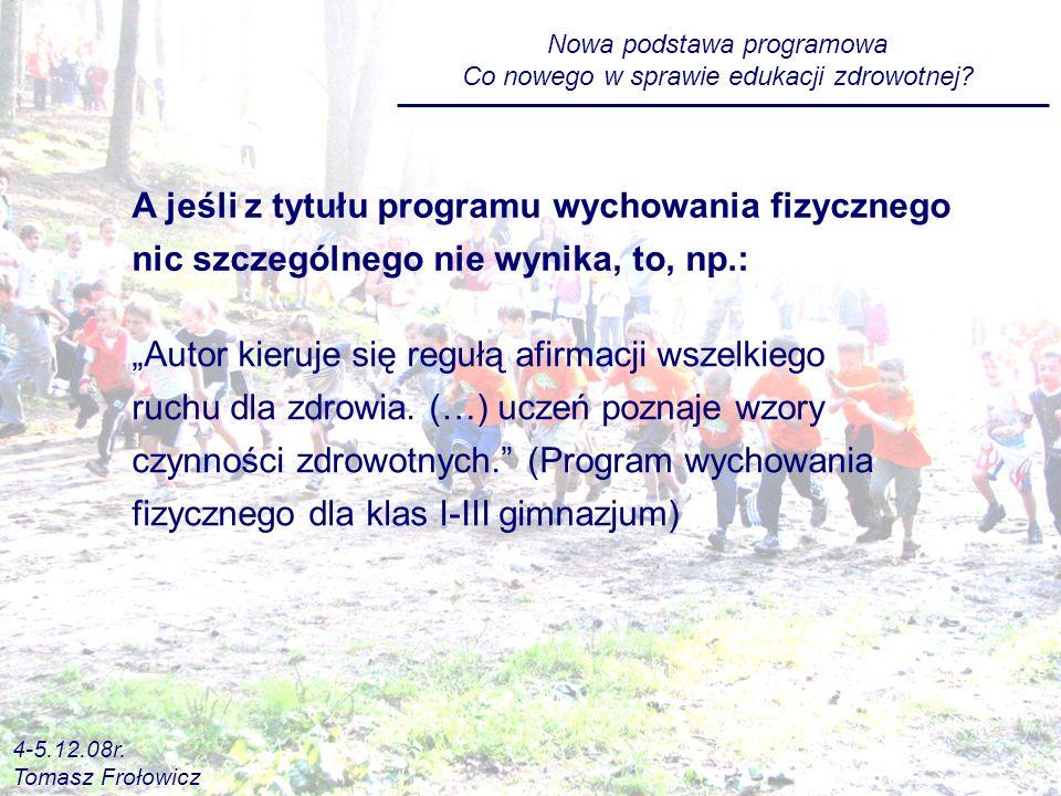 Nowa podstawa programowa Co nowego w sprawie edukacji zdrowotnej.