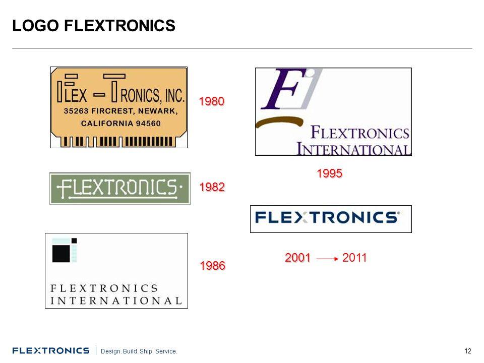 12 Design. Build. Ship. Service. LOGO FLEXTRONICS 1980 1982 1986 1995 2001 2011