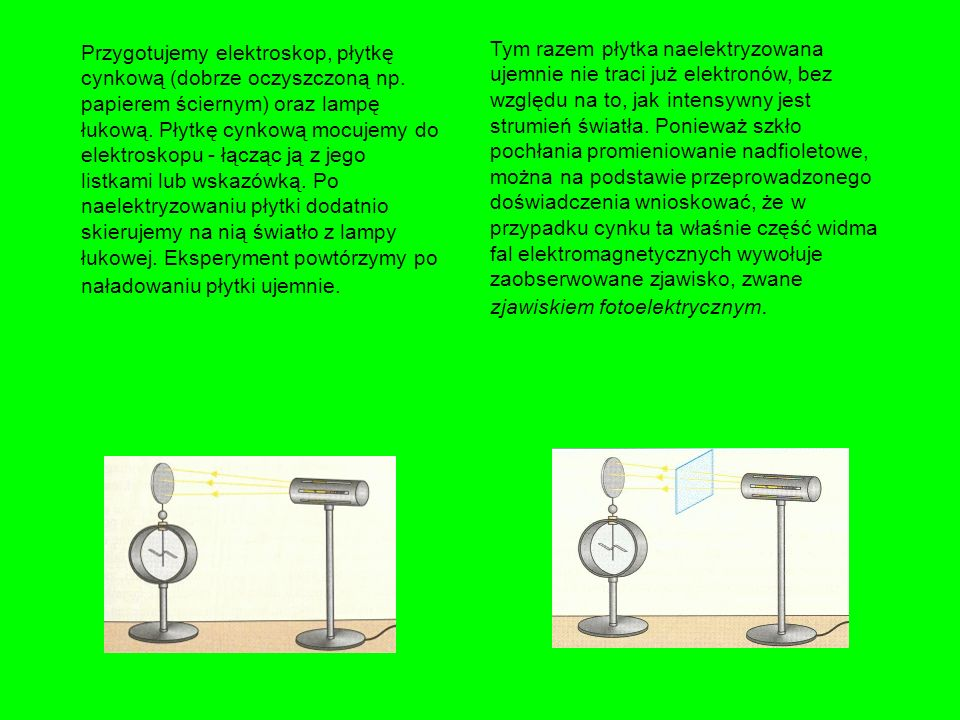 Zjawisko fotoelektryczne znalazło szeroki zastosowanie w technice. Jednym z przykładów zastosowania jest fotokomórka Tworzy ją próżniowa bańka szklana