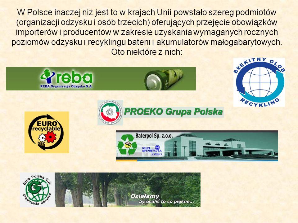 W Polsce inaczej niż jest to w krajach Unii powstało szereg podmiotów (organizacji odzysku i osób trzecich) oferujących przejęcie obowiązków importeró
