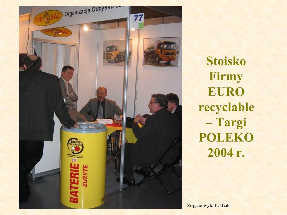 Stoisko Firmy EURO recyclable – Targi POLEKO 2004 r. Zdjęcie wyk. E. Dzik