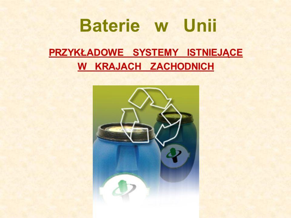 Baterie w Unii PRZYKŁADOWE SYSTEMY ISTNIEJĄCE W KRAJACH ZACHODNICH