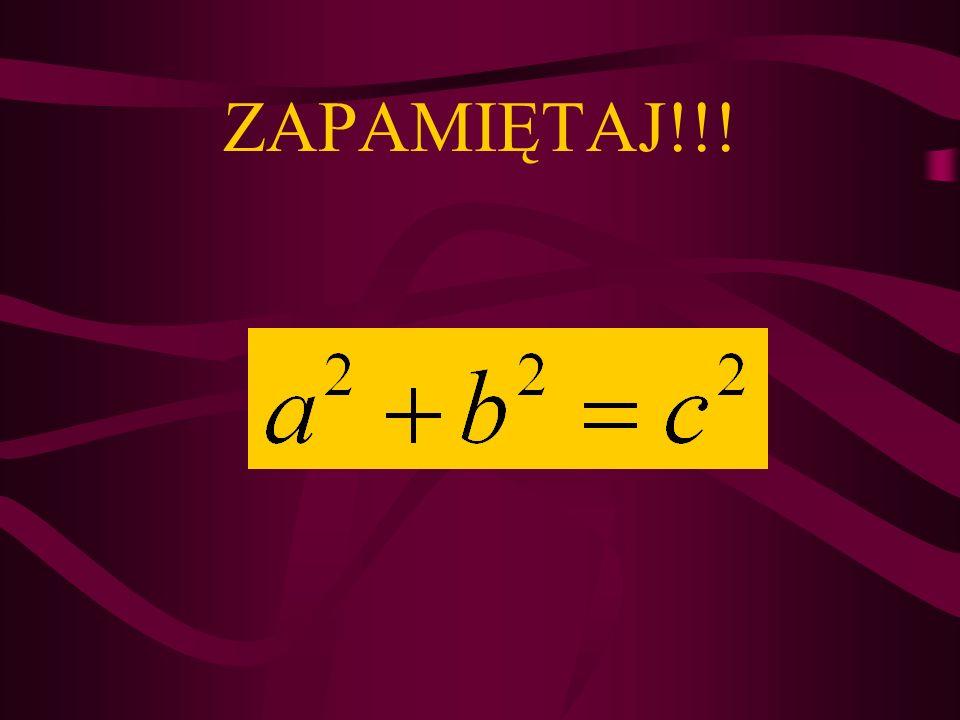 Dane: a – przyprostokątna b – przyprostokątna c – przeciwprostokątna a = 16 cm c = 34 cm b = .