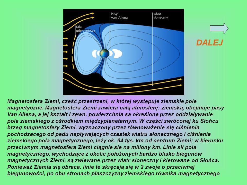Magnetosfera Ziemi, część przestrzeni, w której występuje ziemskie pole magnetyczne. Magnetosfera Ziemi zawiera całą atmosferę; ziemską, obejmuje pasy
