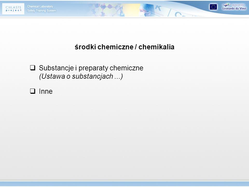 Substancje chemiczne pierwiastki chemiczne i ich związki w stanie, w jakim występują w przyrodzie lub zostają uzyskane za pomocą procesu produkcyjnego....