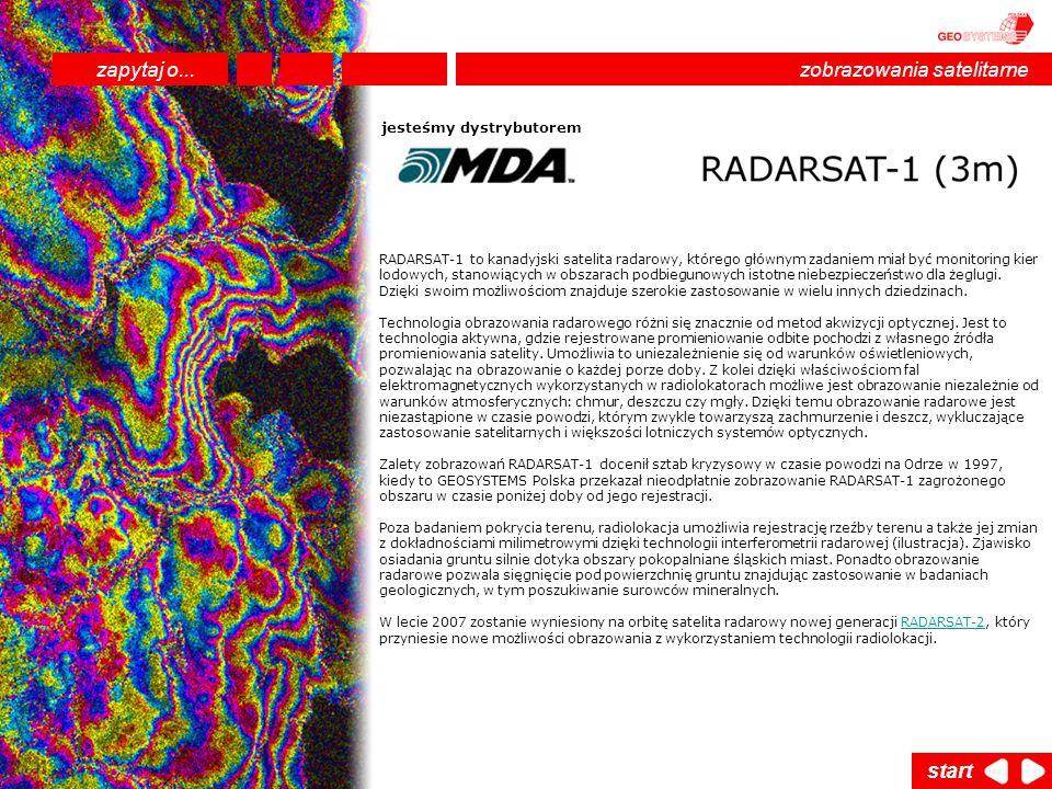 RADARSAT-1 to kanadyjski satelita radarowy, którego głównym zadaniem miał być monitoring kier lodowych, stanowiących w obszarach podbiegunowych istotn