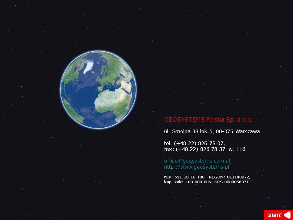 GEOSYSTEMS Polska Sp. z o.o. ul. Smolna 38 lok.5, 00-375 Warszawa tel. (+48 22) 826 78 07, fax: (+48 22) 826 78 37 w. 116 office@geosystems.com.ploffi