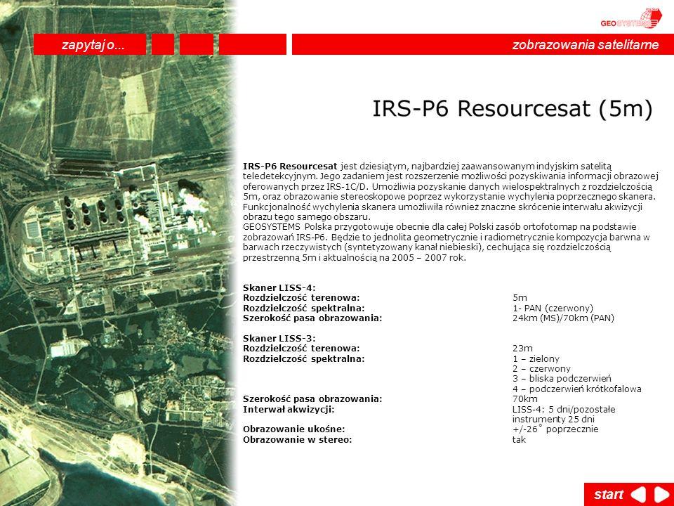 IRS-P6 Resourcesat jest dziesiątym, najbardziej zaawansowanym indyjskim satelitą teledetekcyjnym. Jego zadaniem jest rozszerzenie możliwości pozyskiwa