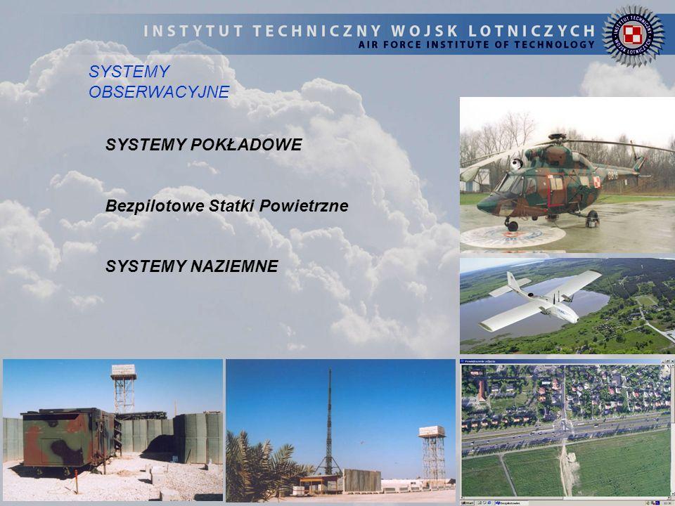 SYSTEMY POKŁADOWE Bezpilotowe Statki Powietrzne SYSTEMY NAZIEMNE SYSTEMY OBSERWACYJNE