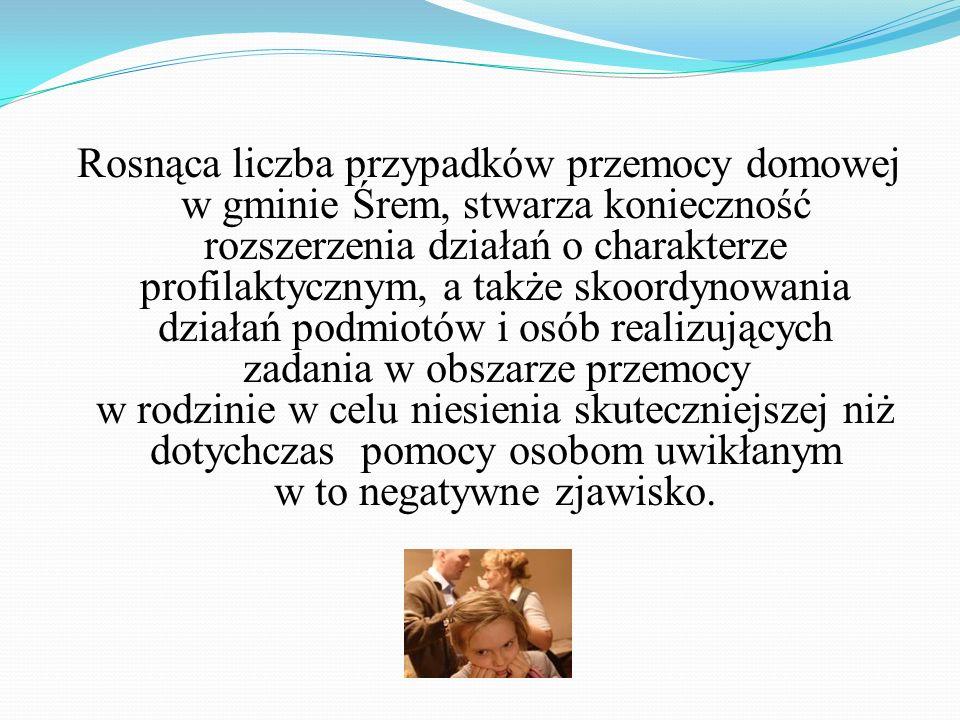 Z Gminnym Programem Przeciwdziałania Przemocy w Rodzinie oraz Ochrony Ofiar Przemocy w Gminie Śrem na lata 2011-2013 oraz z Regulaminem tworzenia Zespołu Interdyscyplinarnego można zapoznać się na stronach internetowych www.opssrem.lap.pl i www.srem.pl.www.opssrem.lap.plwww.srem.pl