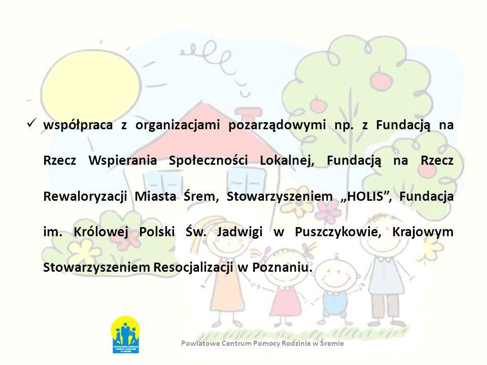współpraca z organizacjami pozarządowymi np. z Fundacją na Rzecz Wspierania Społeczności Lokalnej, Fundacją na Rzecz Rewaloryzacji Miasta Śrem, Stowar