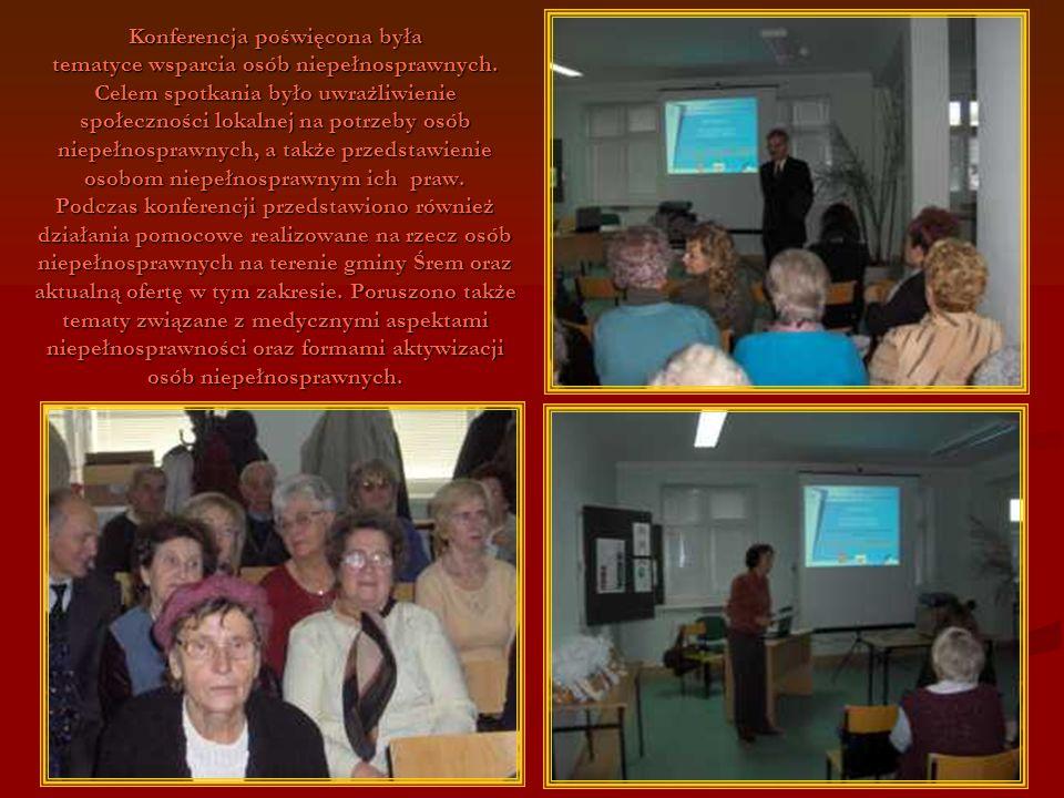 108 Konferencja poświęcona była tematyce wsparcia osób niepełnosprawnych. Celem spotkania było uwrażliwienie społeczności lokalnej na potrzeby osób ni