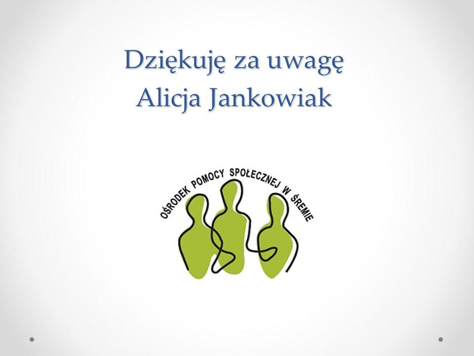 Dziękuję za uwagę Alicja Jankowiak