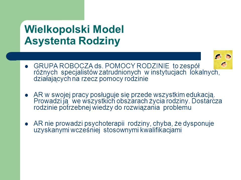 Wielkopolski Model Asystenta Rodziny GRUPA ROBOCZA ds.