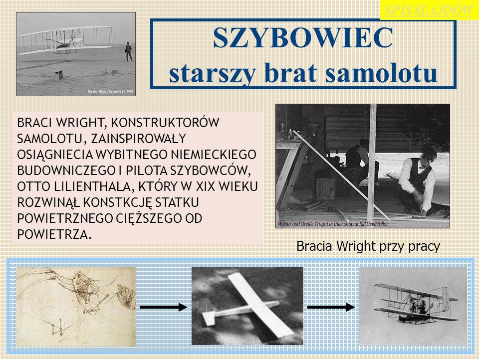 SZYBOWCE to statki powietrzne cięższe od powietrza (aerodyna), bez napędu, unoszące się dzięki sile nośnej powstającej na skrzydłach podczas lotu. Każ