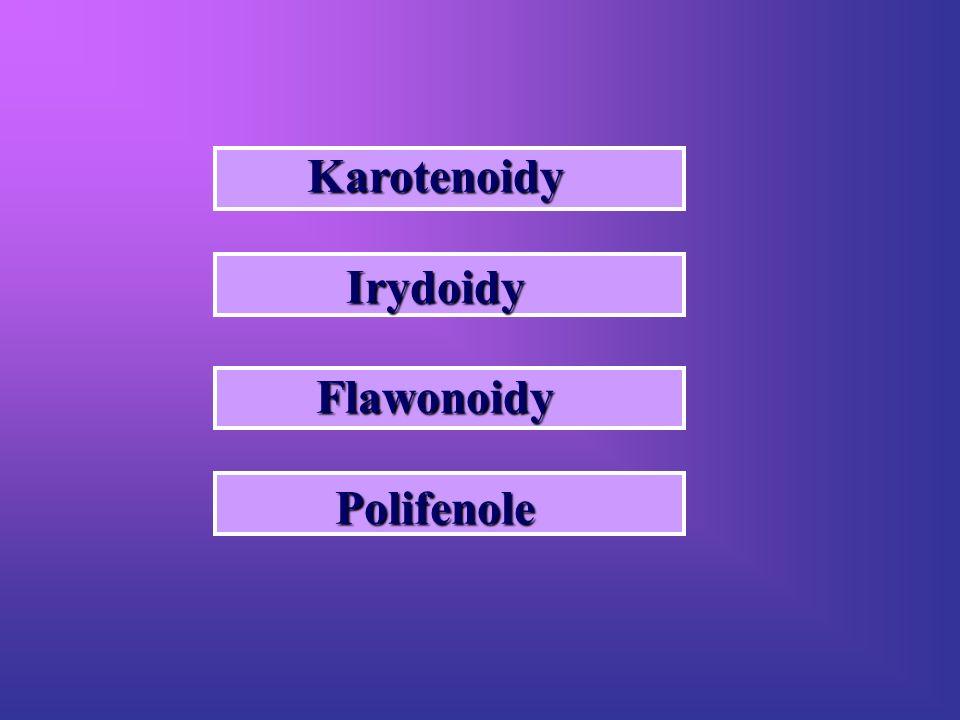 KarotenoidyIrydoidyFlawonoidyPolifenole