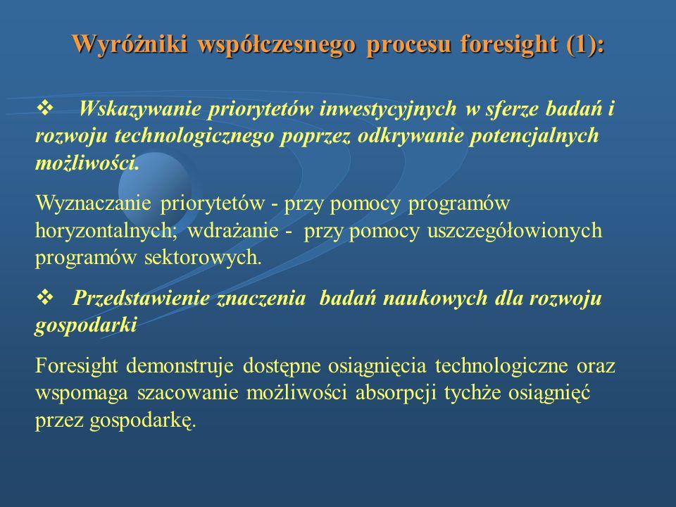 Wyróżniki współczesnego procesu foresight (1): Wskazywanie priorytetów inwestycyjnych w sferze badań i rozwoju technologicznego poprzez odkrywanie pot