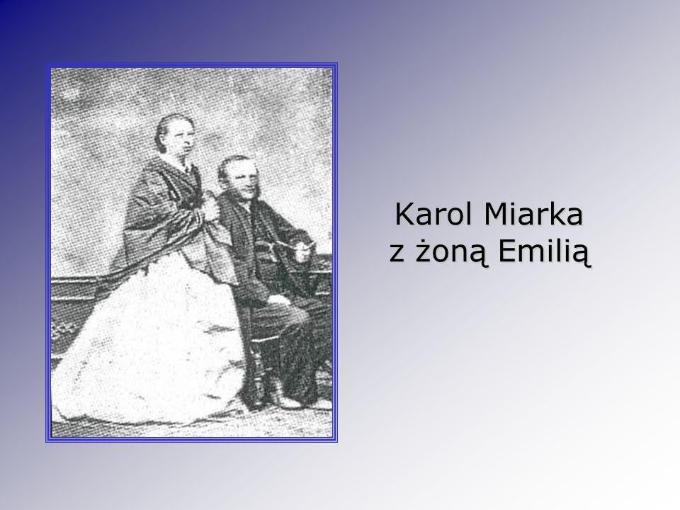 Karol Miarka z żoną Emilią