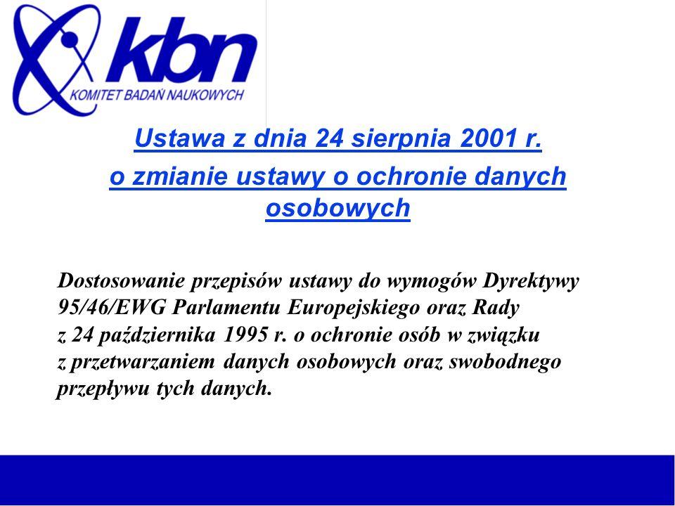 Ustawa z dnia 24 sierpnia 2001 r.