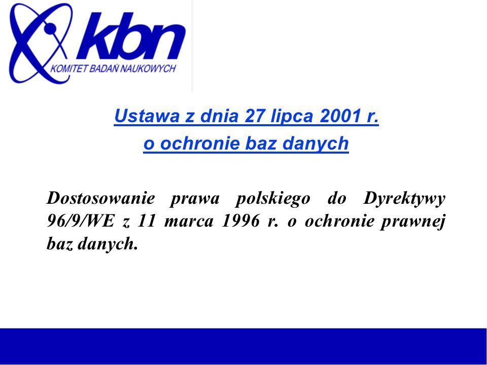 Ustawa z dnia 27 lipca 2001 r.