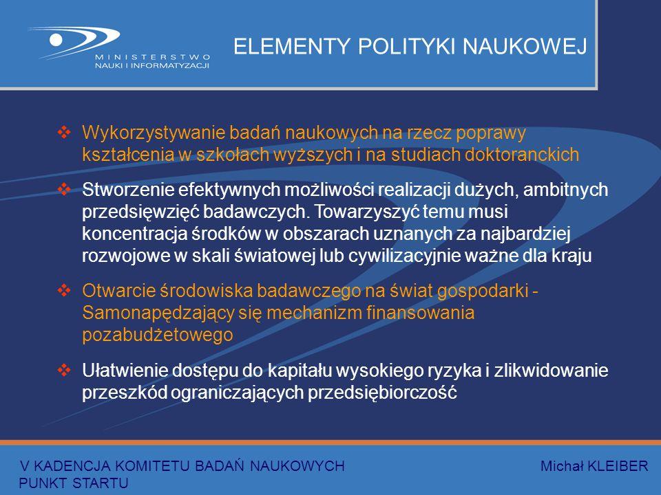 Wykorzystywanie badań naukowych na rzecz poprawy kształcenia w szkołach wyższych i na studiach doktoranckich Stworzenie efektywnych możliwości realizacji dużych, ambitnych przedsięwzięć badawczych.