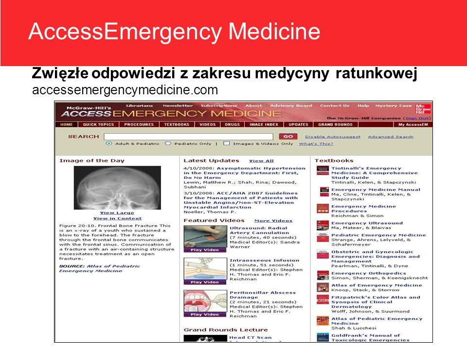 AccessEmergency Medicine Zwięzłe odpowiedzi z zakresu medycyny ratunkowej accessemergencymedicine.com