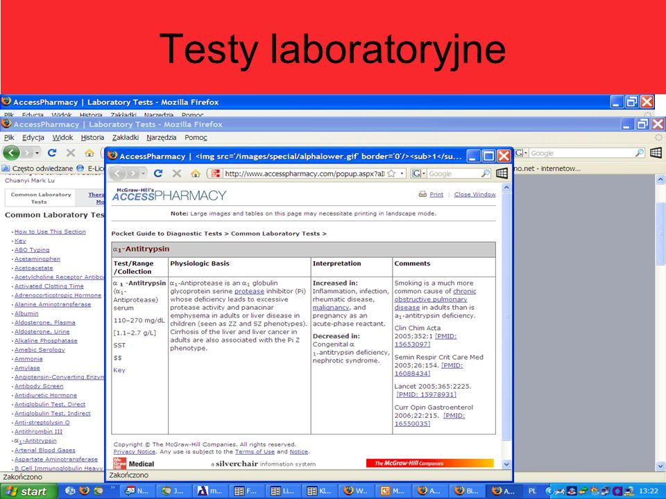 Testy laboratoryjne