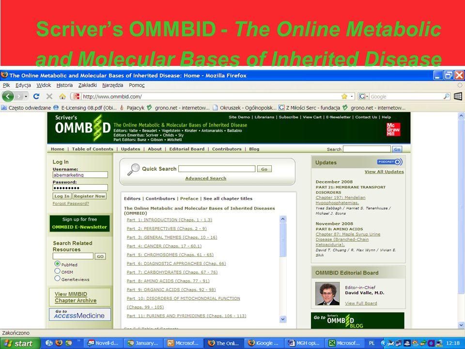 OMMBID | ommbid.com Scrivers OMMBID dostarcza najważniejszych informacji z zakresu genetyki, opracowywanych przez zespół międzynarodowych ekspertów.