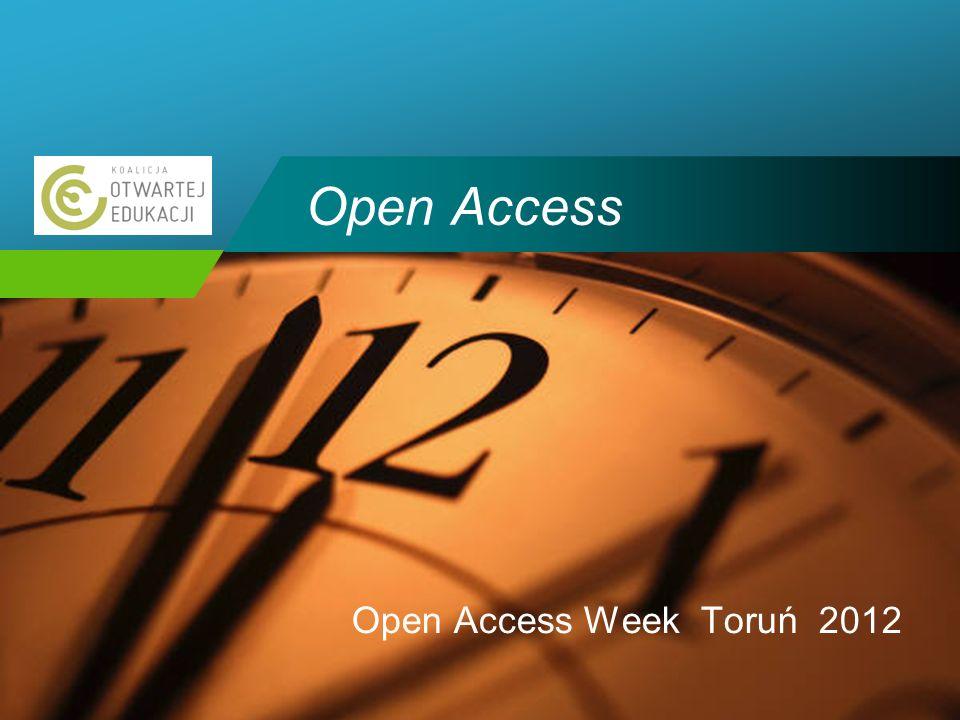 Company LOGO Open Access Open Access Week Toruń 2012