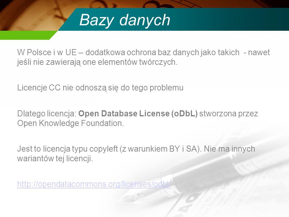 Bazy danych W Polsce i w UE – dodatkowa ochrona baz danych jako takich - nawet jeśli nie zawierają one elementów twórczych.