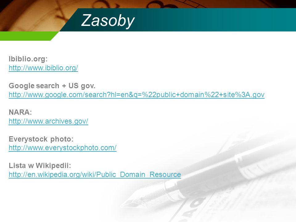 Zasoby Ibiblio.org: http://www.ibiblio.org/ Google search + US gov. http://www.google.com/search?hl=en&q=%22public+domain%22+site%3A.gov http://www.go