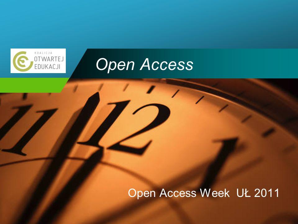 Company LOGO Open Access Open Access Week UŁ 2011