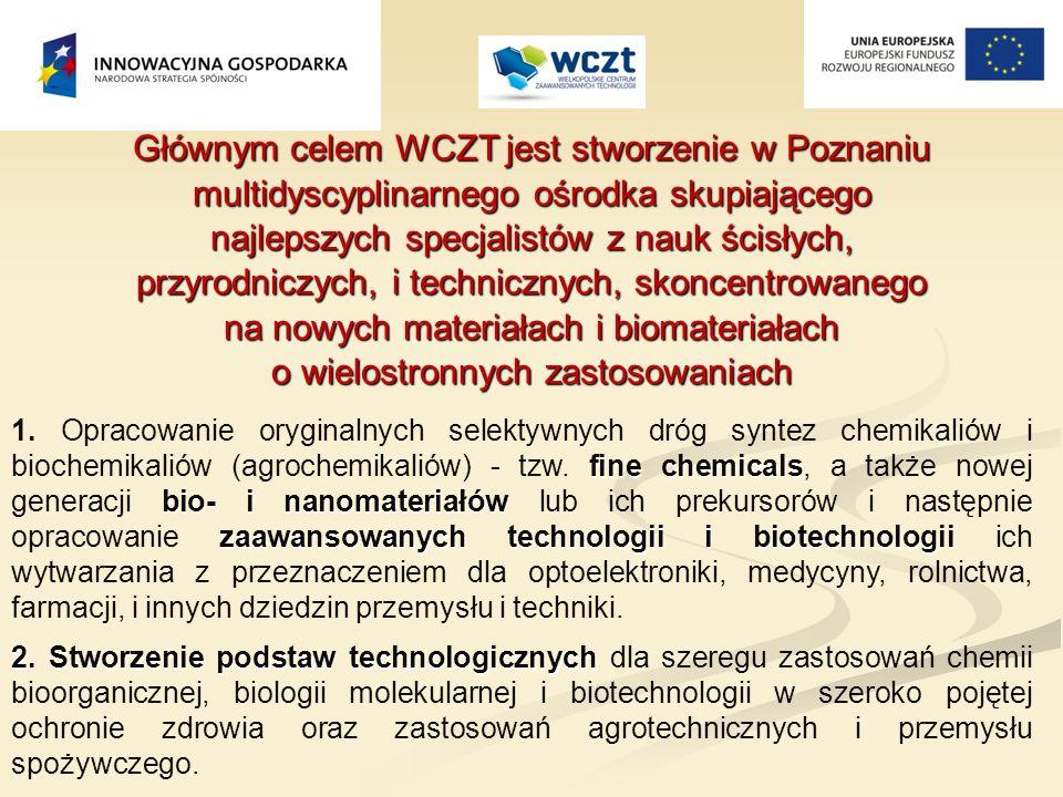 Głównym celem WCZT jest stworzenie w Poznaniu multidyscyplinarnego ośrodka skupiającego najlepszych specjalistów z nauk ścisłych, przyrodniczych, i te