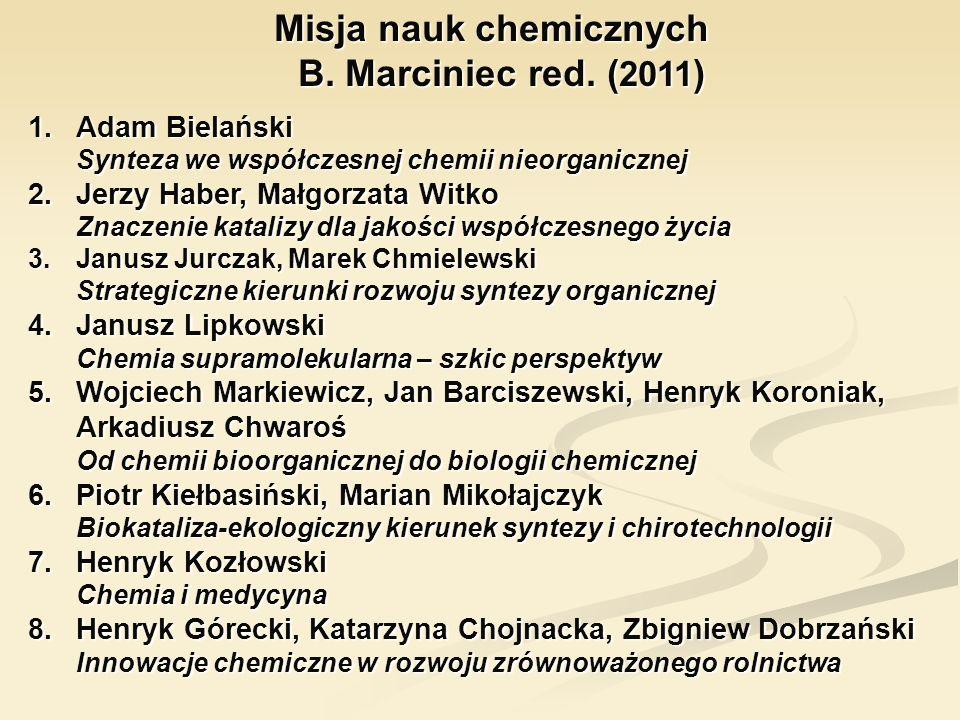 1.Adam Bielański Synteza we współczesnej chemii nieorganicznej 2.Jerzy Haber, Małgorzata Witko Znaczenie katalizy dla jakości współczesnego życia 3.Ja
