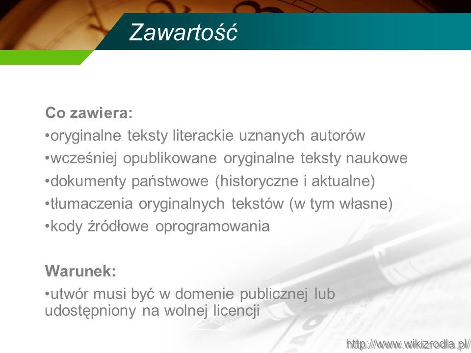 Zawartość Co zawiera: oryginalne teksty literackie uznanych autorów wcześniej opublikowane oryginalne teksty naukowe dokumenty państwowe (historyczne