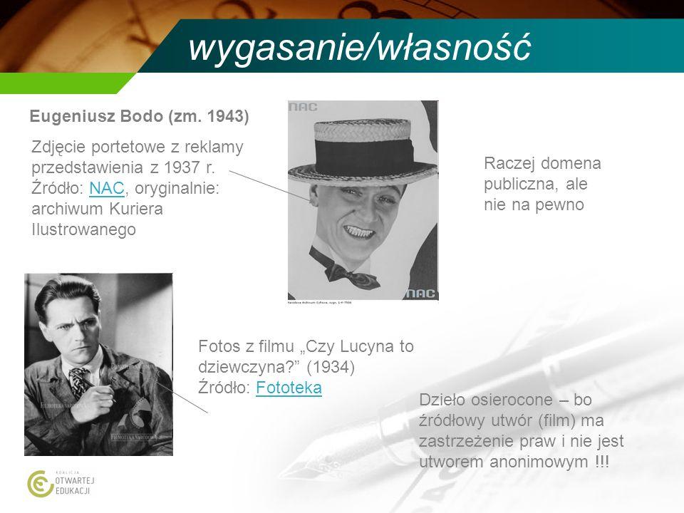 wygasanie/własność Eugeniusz Bodo (zm. 1943) Zdjęcie portetowe z reklamy przedstawienia z 1937 r. Źródło: NAC, oryginalnie: archiwum Kuriera Ilustrowa