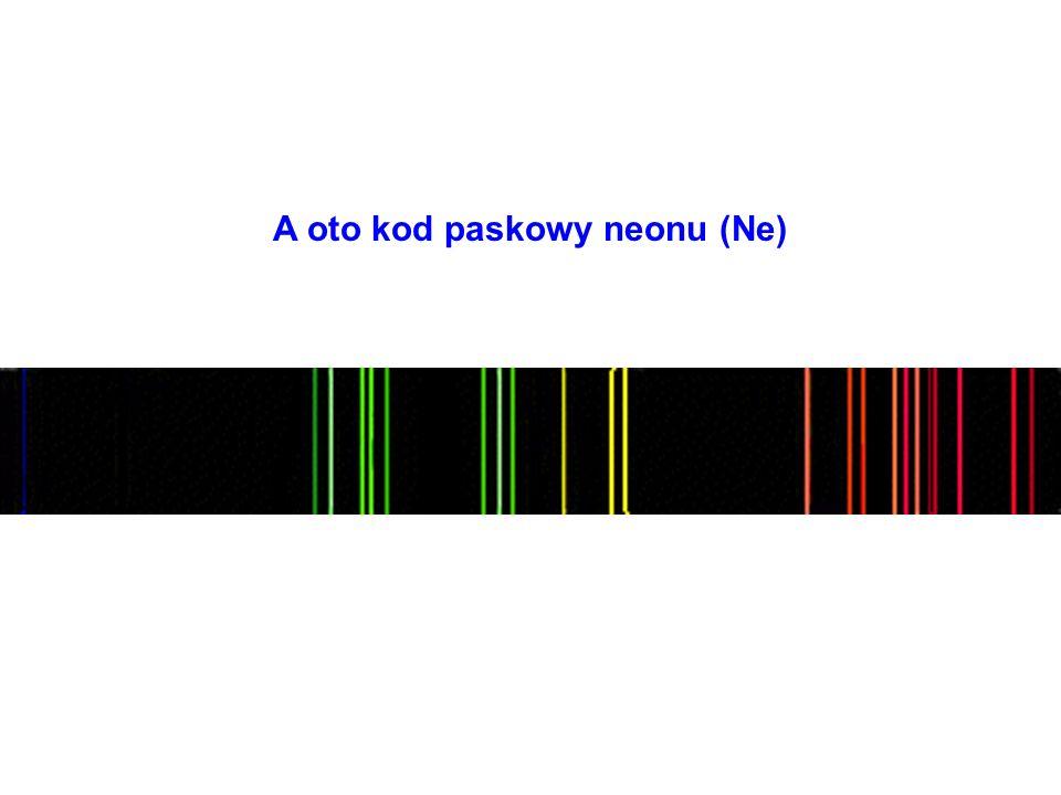 A oto kod paskowy neonu (Ne)
