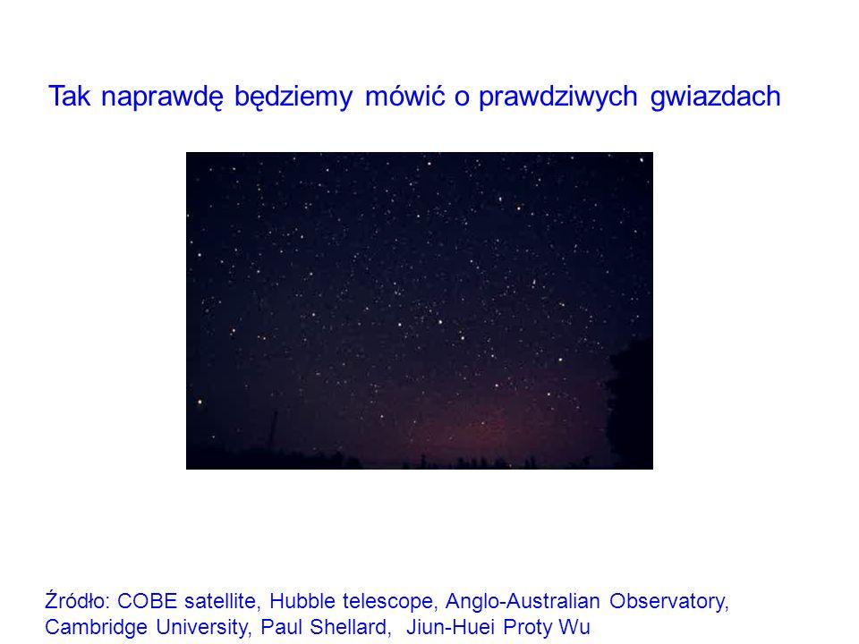 Źródło: COBE satellite, Hubble telescope, Anglo-Australian Observatory, Cambridge University, Paul Shellard, Jiun-Huei Proty Wu Tak naprawdę będziemy