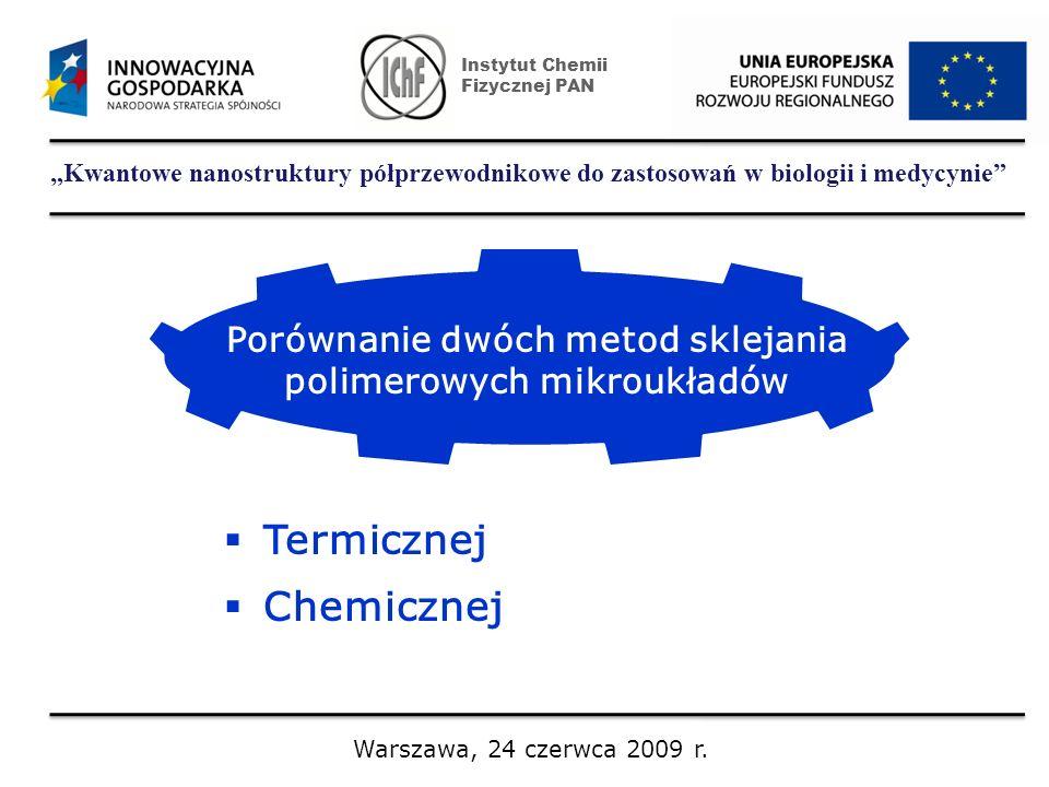 Kwantowe nanostruktury półprzewodnikowe do zastosowań w biologii i medycynie Instytut Chemii Fizycznej PAN Warszawa, 24 czerwca 2009 r. Porównanie dwó