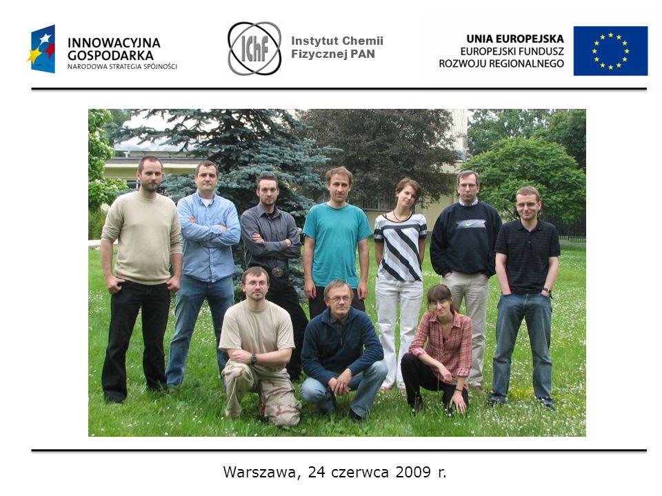 Instytut Chemii Fizycznej PAN Warszawa, 24 czerwca 2009 r.